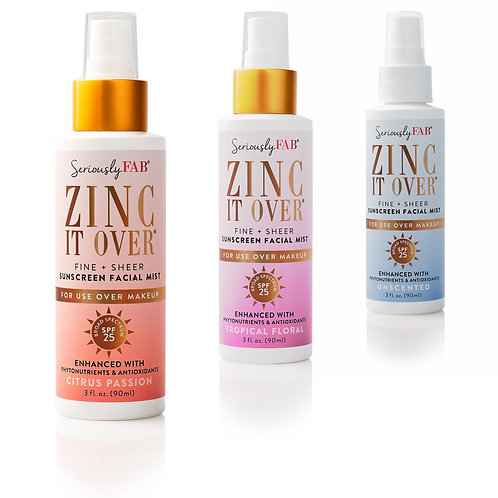 Seriously Fab - Zinc It Over Sunscreen Mist