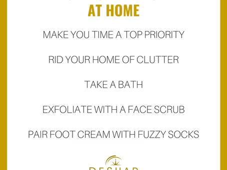 Self-Care Tips at Home