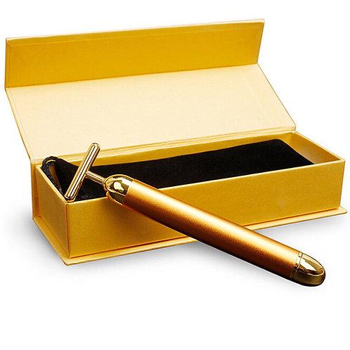 Beauty Bar 24k Golden Pulse Facial Massager T-Shape Electric