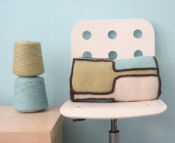 Stainglass Felted Pillow