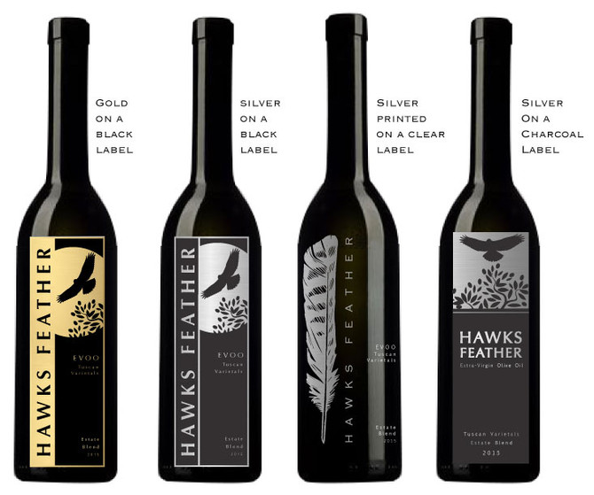 Hawks Feather Olive Oil Label Concepts