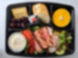 Boîte à lunch salade repas thon grillé