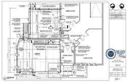 NEW GARAGE ADDITION - FLOOR PLANS