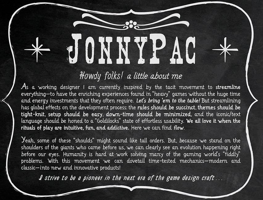 JonnyPac freelance game designer bio about