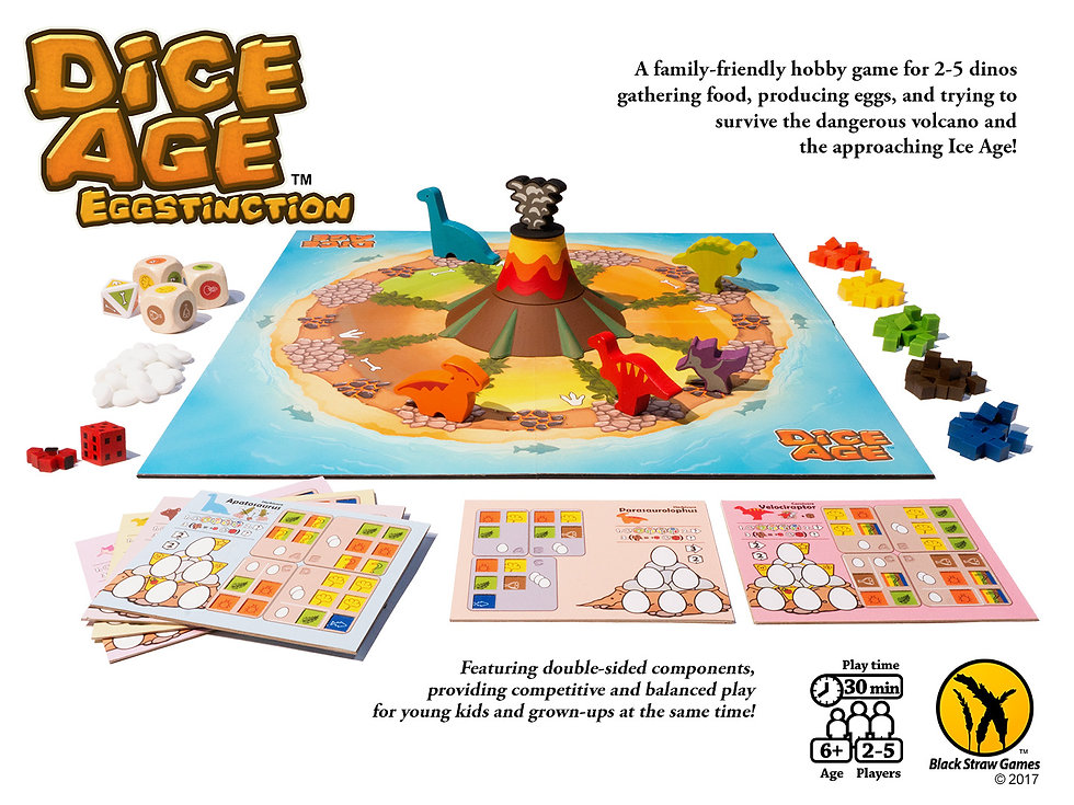 Dice Age Board Gam by JonnyPac, John Shulters, and Sarah Graybill of Black Straw Games