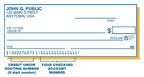 sample chec with routing and account numbers