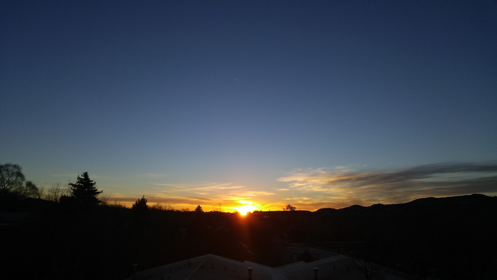 The first sunrise of the year