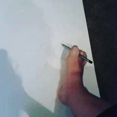 Feet drawing performances by Lusy Koror
