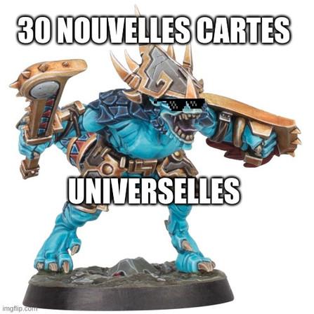 Warhammer Underworlds - Les cartes universelles des Traqueurs Stellaires