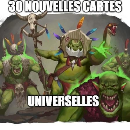 Warhammer Underworlds - Les cartes universelles des Sifonnés de Hedkrakka