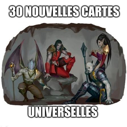 Warhammer Underworlds - Les cartes universelles de la cour écarlate