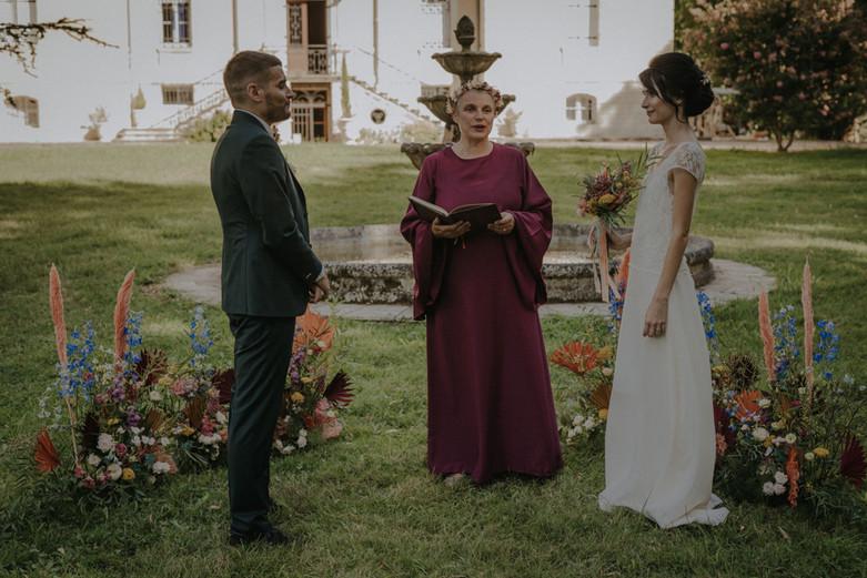 L'accueil des mariés
