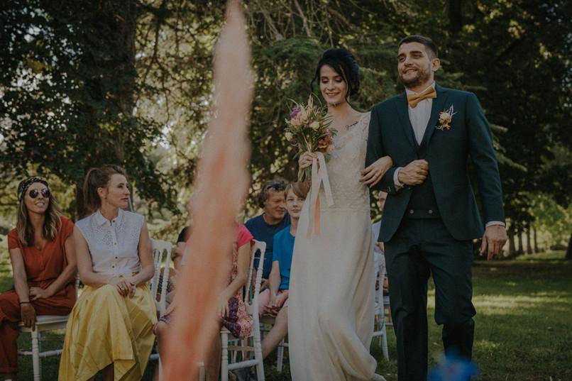 L'arrivée des mariés