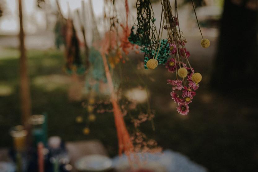Délicates compositions florales