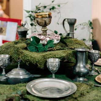 Repas médiéval -Céline Larigaldie officiante cérémonie laïque
