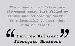 Testimonial  - Darlyne Klinkert