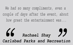 Testimonial  - Rachael Shay