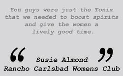 Testimonial  - Susie Almond