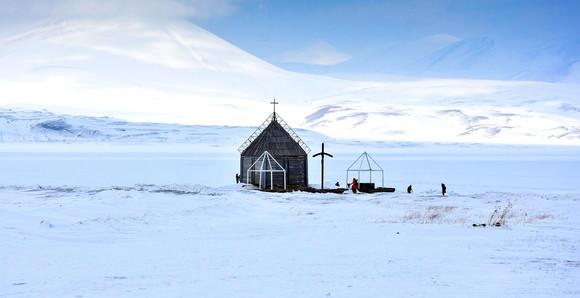 Paravani Lake In Winter