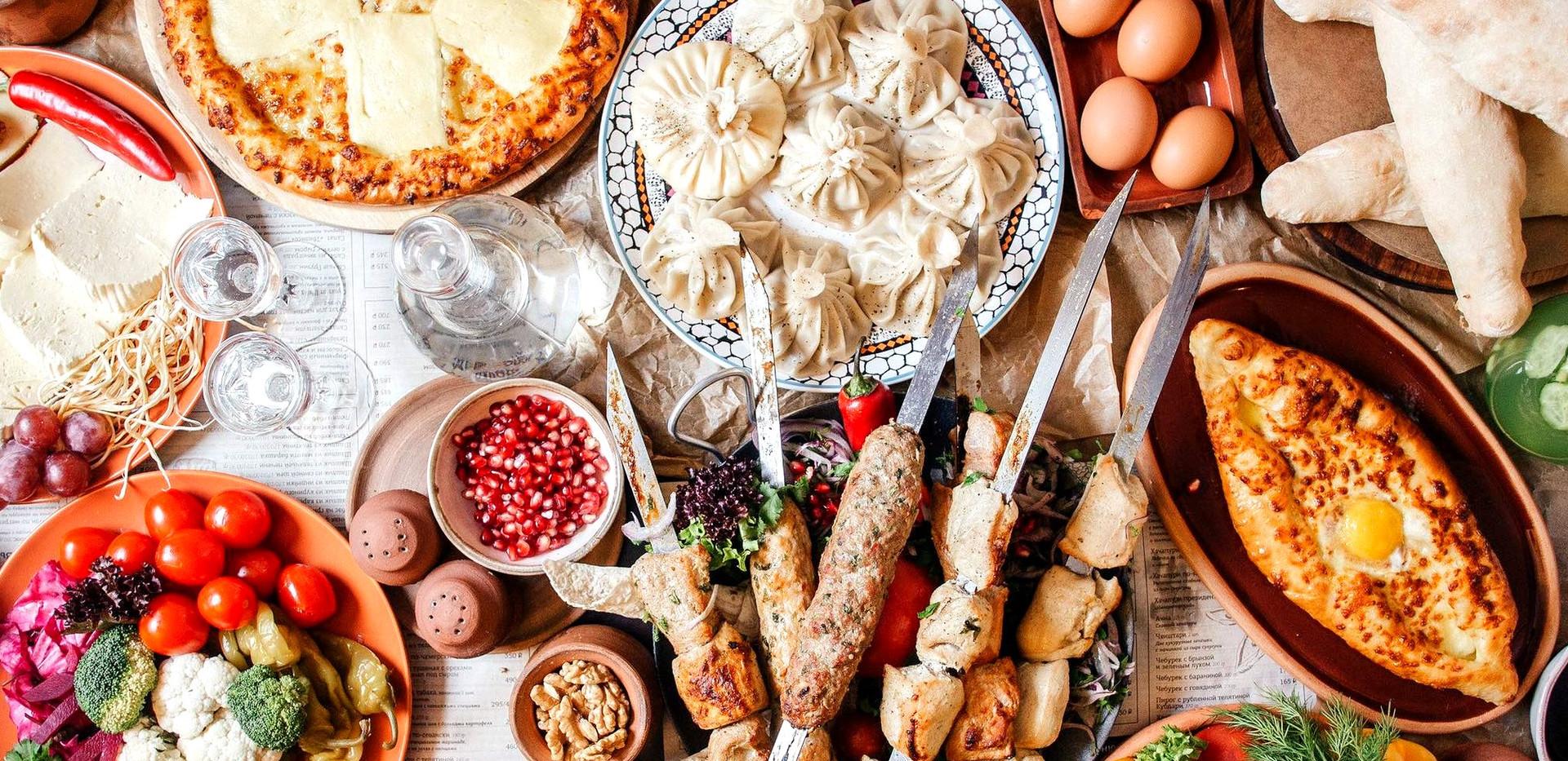 Georgian Food In Mtskheta