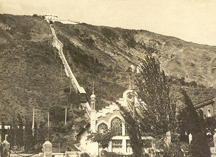 Old Picture Of Tbilisi Funicular Train