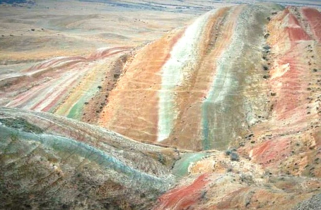 Colorful Desert Mountains