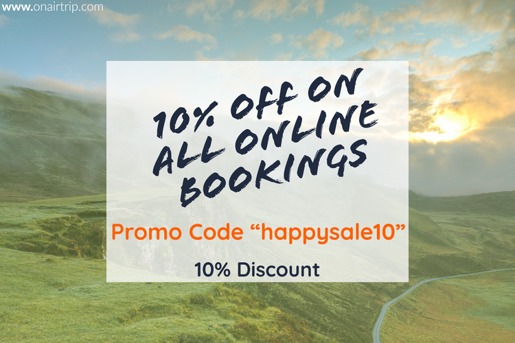 10% Off On All Online Bookings