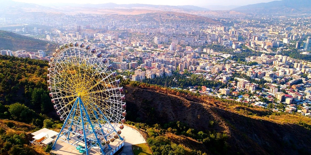 Ferris Wheel Tbilisi | Mtatsminda Park | Rustaveli Avenue