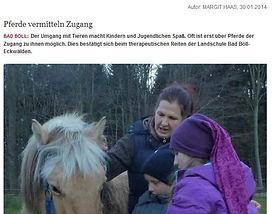 Pferde vermitteln Zugang