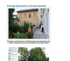 Finissage Götz Rascher im Kurhaus Bad Boll
