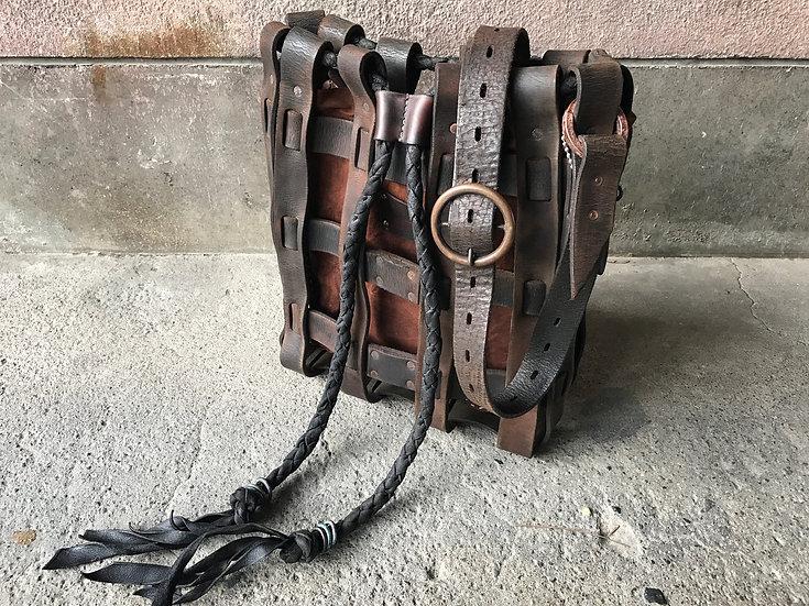 Braided junkie shoulder bag