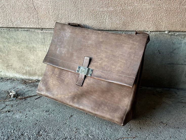 Cow leather large tote bag