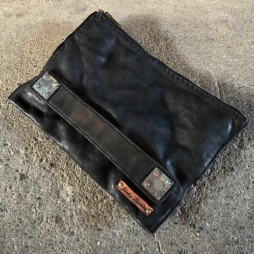 Italian shoulder square clutch bag