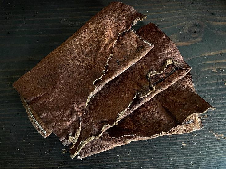 Aged  Buffalo pouch