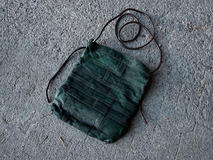 Horse leather patchwork shoulder bag