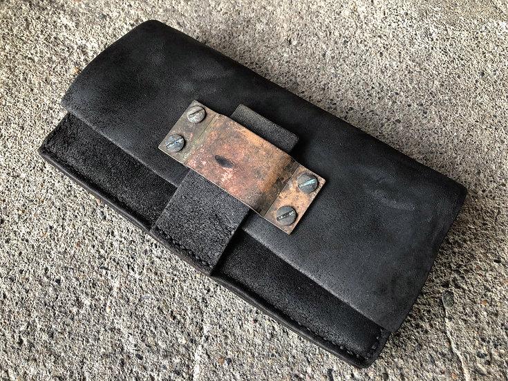 Horse butt reverse long wallet [BL]