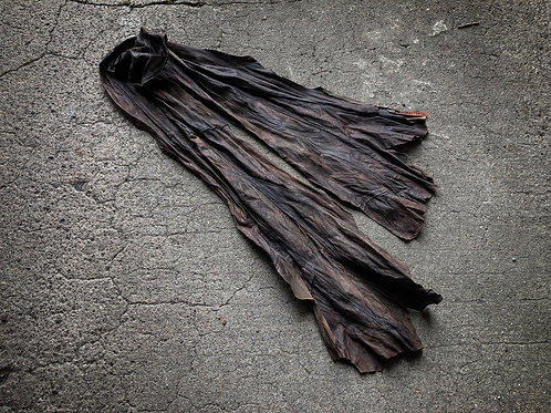 Italy sheep garment dyed leather stole [DB]