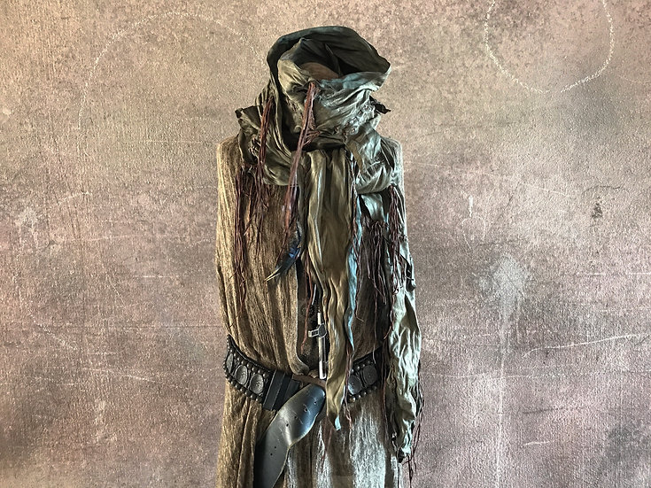 Tan Italy goat leather gypsy stole