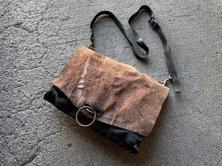 Horse butt leather shoulder bag