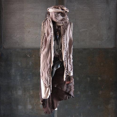 Goat reverse leather gypsy stole