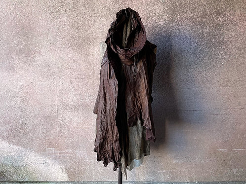 Sheep leather garment dyed stole [RB]