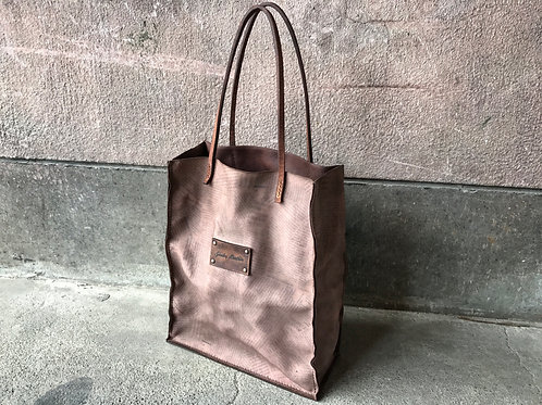Decayed leather tote bag [NP]