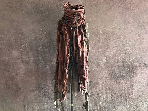 Sheep oil nappa leather gypsy stole