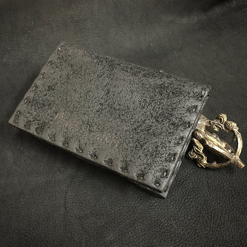 Italia shoulder oil reverse card case [MB]