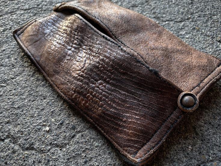 Horse butt leather pocket tissue case
