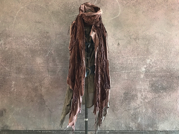 Oil sheep leather gypsy stole