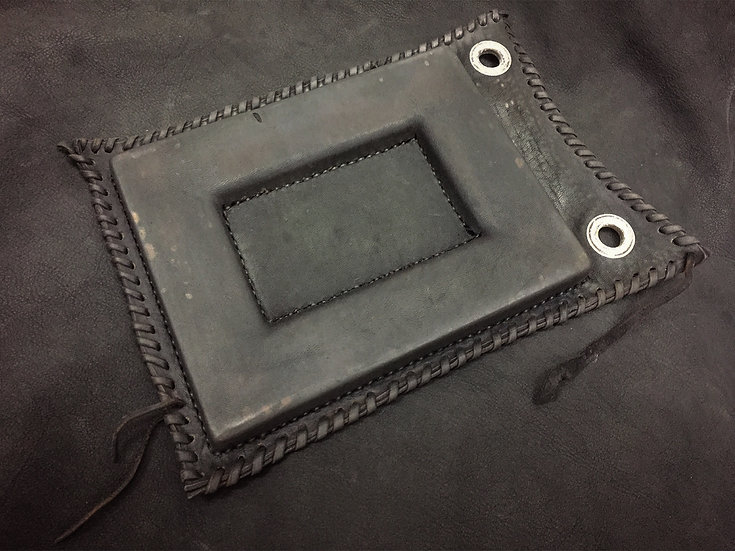 Leather art wall hanging