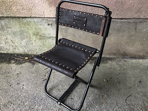 Horse leather garment dyed mini chair