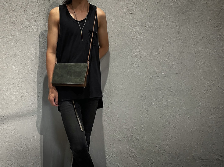 Rust dyed mini shoulder bag