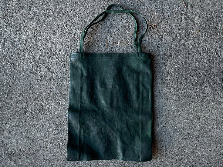 Horse leather shopping tote bag